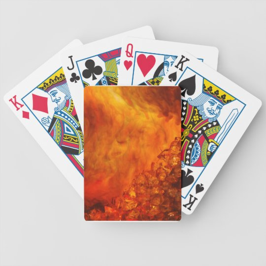 """Volcano"" collection original Lyrical Abstraction Bicycle Playing Cards"