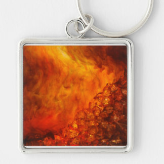 """Volcano"" collection original Lyrical Abstraction Keychain"