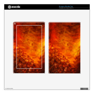 """Volcano"" collection original Lyrical Abstraction Kindle Fire Decals"