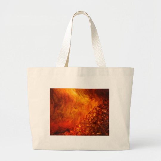 """""""Volcano"""" collection original Lyrical Abstraction Large Tote Bag"""