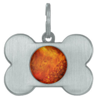 """""""Volcano"""" collection original Lyrical Abstraction Pet ID Tag"""