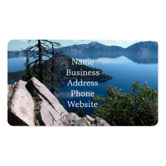 Volcano Deep Blue Crater Lake Oregon USA Double-Sided Standard Business Cards (Pack Of 100)