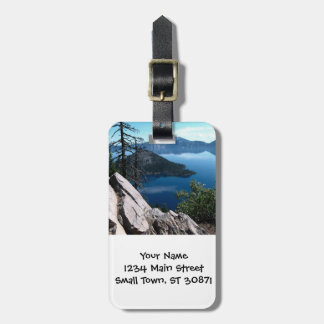 Volcano Deep Blue Crater Lake Oregon USA Tags For Bags