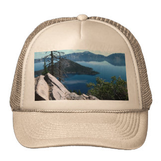 Volcano Deep Blue Crater Lake Oregon USA Trucker Hat