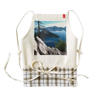 Volcano Deep Blue Crater Lake Oregon USA Zazzle HEART Apron