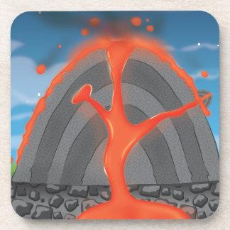 Volcano Diagram Beverage Coaster