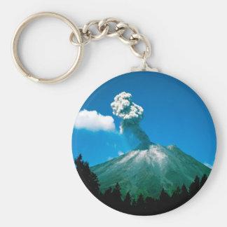 Volcano Erupting Costa Rica Basic Round Button Keychain