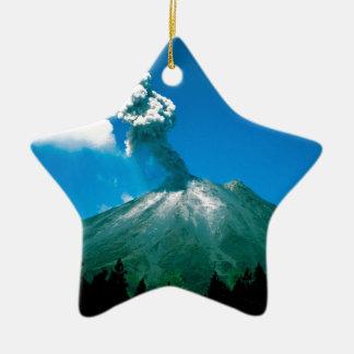 Volcano Erupting Costa Rica Christmas Ornaments