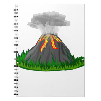 volcano eruption and fire notebook