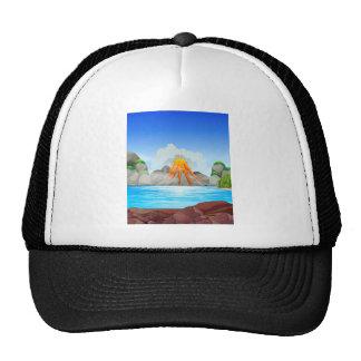 Volcano eruption at the lake trucker hat