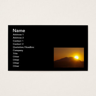 Volcano Eruption? Business Card