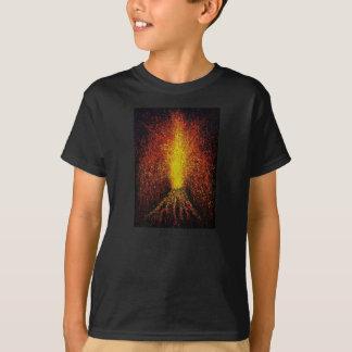 Volcano Eruption Kids' Basic T-Shirt, Black T-Shirt