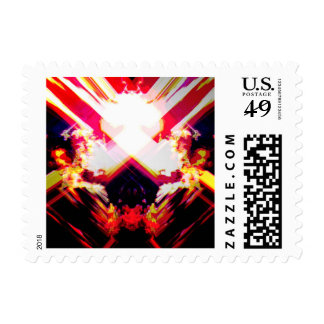 """Volcano Erupts"" Postage Art Stamp"