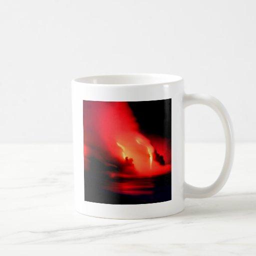 Volcano Fire And Ice Kona Hawaii Classic White Coffee Mug