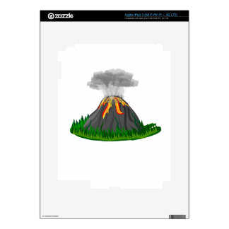 volcano fire eruption decal for iPad 3