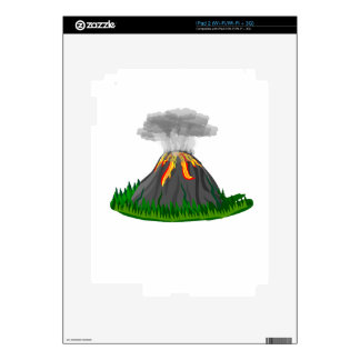 volcano fire eruption iPad 2 skins