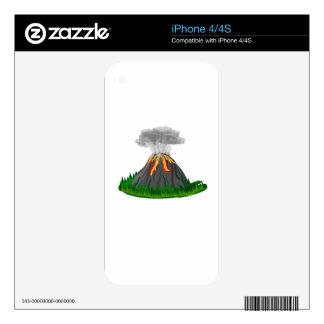 volcano fire eruption iPhone 4 skins