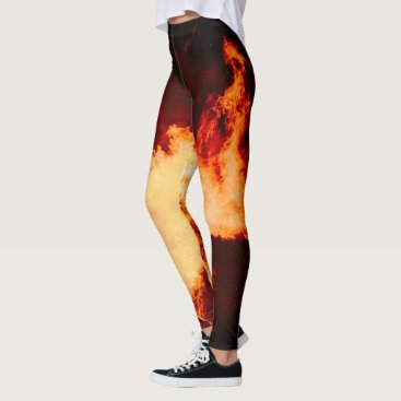 Morgannacriss Volcano Fire Leggins Hot! Leggings