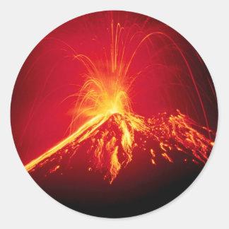Volcano Hot Lava 1991 Costa Rica Classic Round Sticker