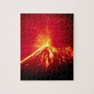 Volcano Hot Lava 1991 Costa Rica Jigsaw Puzzle