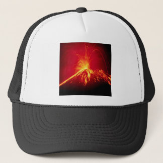 Volcano Hot Lava 1991 Costa Rica Trucker Hat
