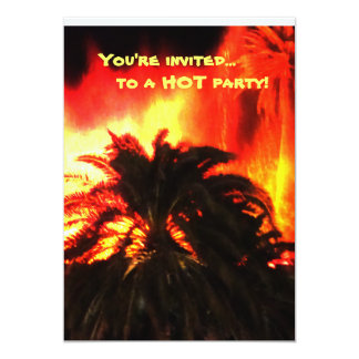 Volcano Hot Party Invitations