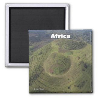 Volcano in Africa Magnet