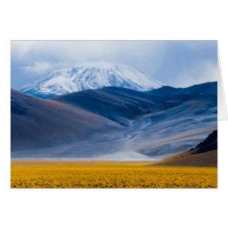 Volcano Incahuasi, Argentina Card