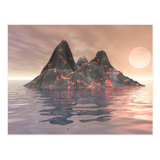 Volcano Island Postcard