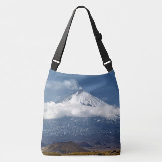 Volcano Klyuchevskaya Sopka on Kamchatka Peninsula Crossbody Bag