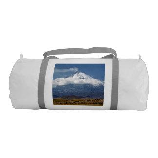 Volcano Klyuchevskaya Sopka on Kamchatka Peninsula Gym Bag