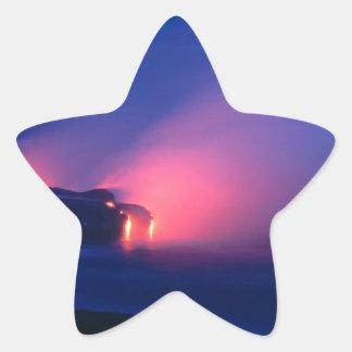 Volcano Lava Flow Kilauea Hawaii Star Sticker