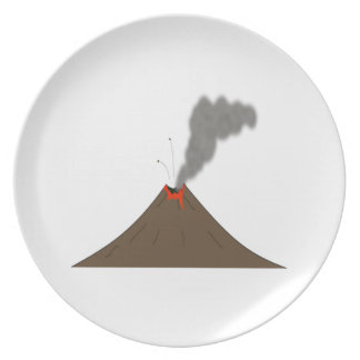 Volcano Mountain Party Plate