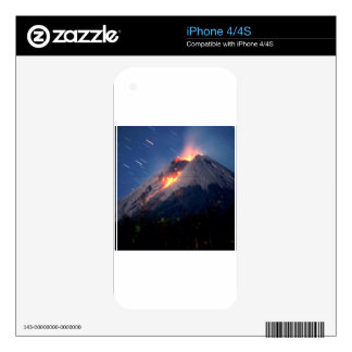 Volcano Natural Wonder Decal For iPhone 4