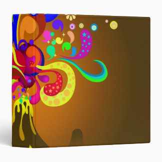 Volcano Oozing Of Color 3 Ring Binder