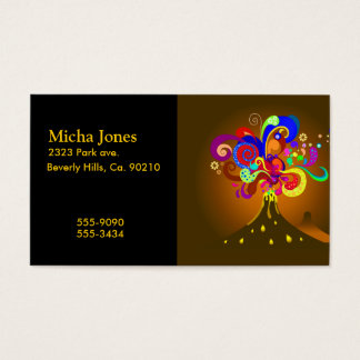 Volcano Oozing Of Color Business Card