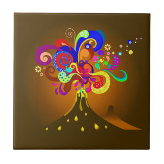 Volcano Oozing Of Color Ceramic Tile