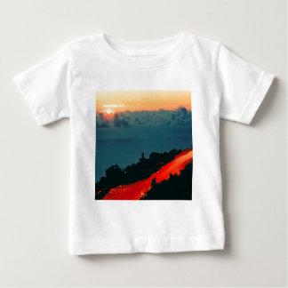Volcano Reunion Island Lava Flow 1975 Baby T-Shirt