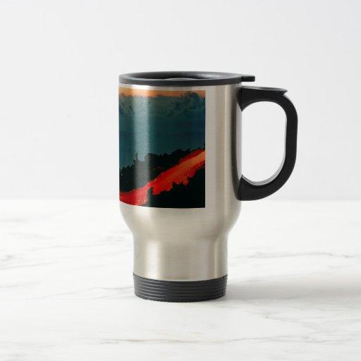 Volcano Reunion Island Lava Flow 1975 Mug