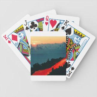 Volcano Reunion Island Lava Flow 1975 Poker Deck