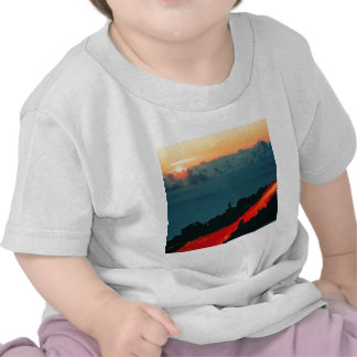 Volcano Reunion Island Lava Flow 1975 Tshirt