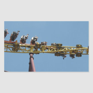 Volcano Roller Coaster at Kings Dominion Rectangular Sticker