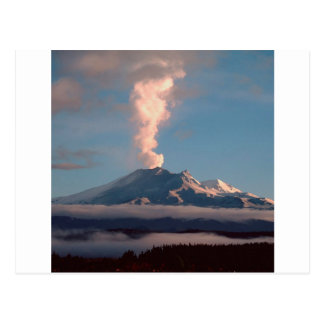 Volcano Ruapehu Tongariro New Zealand Postcard