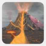 Volcano Square Sticker