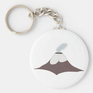 Volcano volcano basic round button keychain
