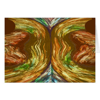 Volcano works:  River in Golden Flames Greeting Card