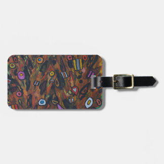 Volcanoes erupting confectionary luggage tag