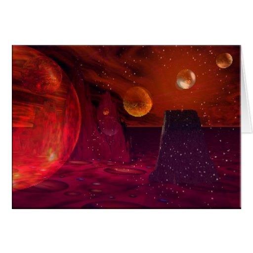 Volcanoes on Mars Greeting Card