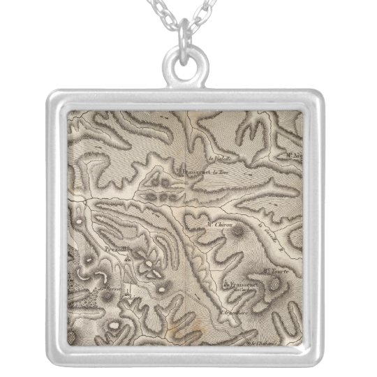 Volcans Haute Loire Silver Plated Necklace
