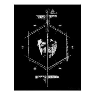 Voldemort Harry Potter Face Off Graphic Poster